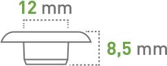 Oczkarki - 12 mm - oczka transparentne