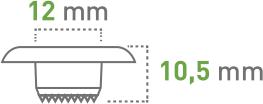 Oczkarki - 12 mm - oczka transparentne z ząbkowanym kołnierzem