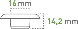 Oczkarki - 16 mm - oczka transparentne