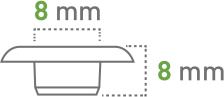 Oczkarki - 8 mm - oczka transparentne