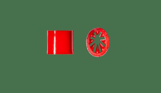 Akcesoria do smyczy reklamowych - Zacisk Vesline czerwony TS