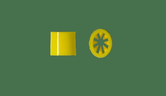 Akcesoria do smyczy reklamowych - Zacisk Vesline żółty TS