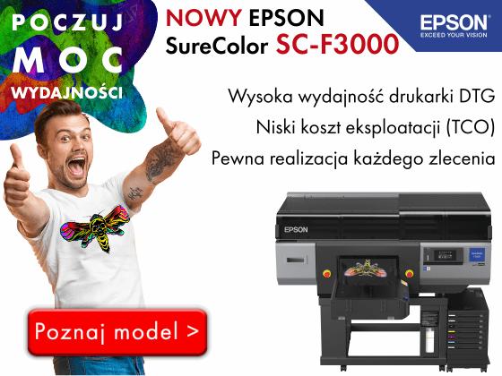 Nowy Epson SC-F3000 do druku DTG jest już dostępny